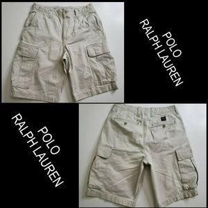 Polo Ralph Lauren Men Cargo Shorts Size 32 Beige